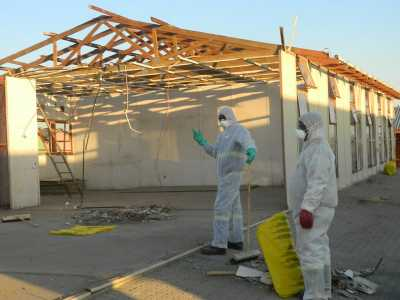 Asbestos removal at a school in Mpumalanga